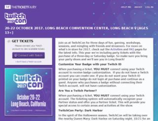tickets.twitchcon.com screenshot