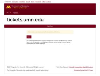 tickets.umn.edu screenshot