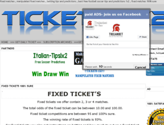 tickets1x2.com screenshot