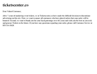 ticketscenter.co screenshot