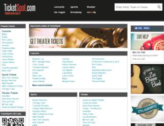 ticketspot.com screenshot
