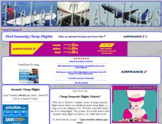 ticketstoairlines.com screenshot