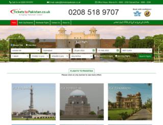 ticketstopakistan.co.uk screenshot