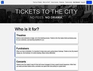 ticketstothecity.com screenshot
