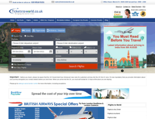 ticketstoworld.co.uk screenshot
