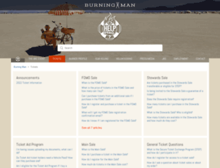 ticketsupport.burningman.com screenshot
