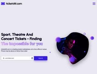 ticketsw.com screenshot