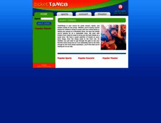 tickettango.com screenshot