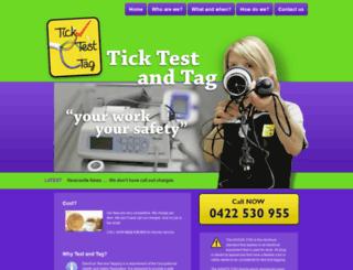 ticktesttag.com.au screenshot