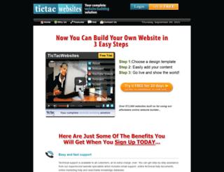 tictacwebsites.com screenshot