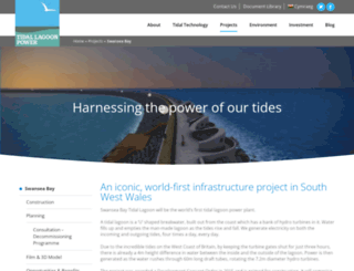 tidallagoonswanseabay.com screenshot