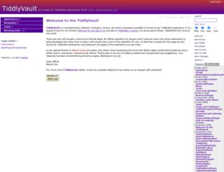 tiddlyvault.tiddlyspot.com screenshot
