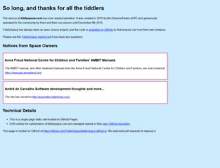 tiddlywiki.tiddlyspace.com screenshot
