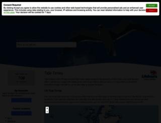tidetimes.org.uk screenshot