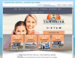 tidewaterlexington.mydentalvisit.com screenshot