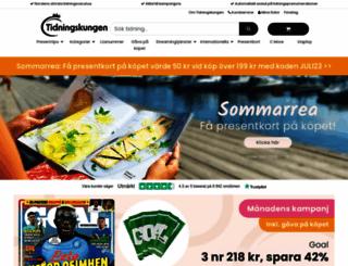 tidningskungen.se screenshot