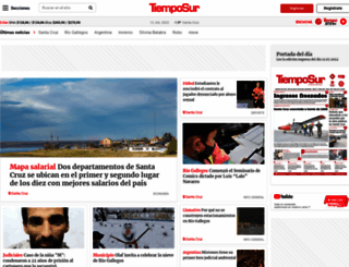 tiemposur.com.ar screenshot