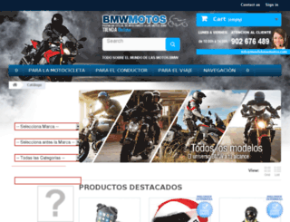 tienda.bmwmotos.com screenshot