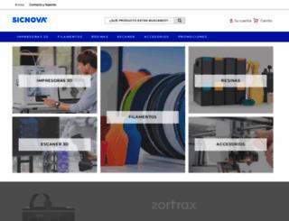 tienda.sicnova3d.com screenshot