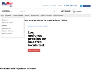 tiendabigmat.com screenshot