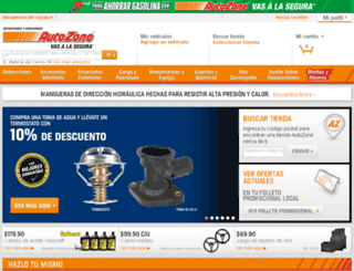 tiendasautozone.com screenshot
