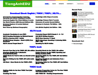 tienganhedu.com screenshot