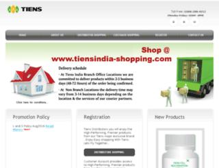 tiensindia-shopping.com screenshot