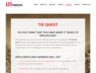 tiequest.org screenshot