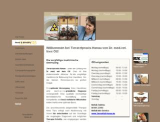 tierarztpraxis-hanau.de screenshot