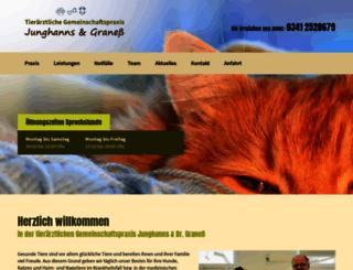 tierarztpraxis-junghanns.de screenshot