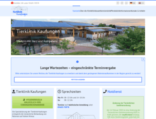 tierklinik-kaufungen.de screenshot