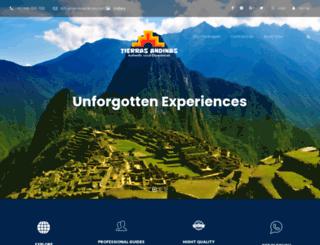 tierrasandinas.com screenshot