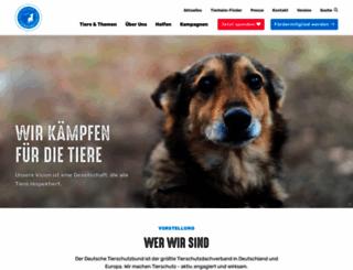 tierschutzbund.de screenshot