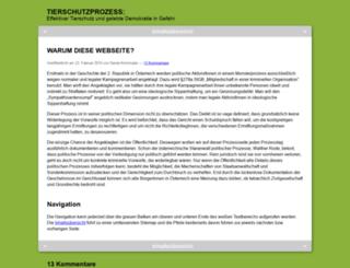tierschutzprozess.at screenshot