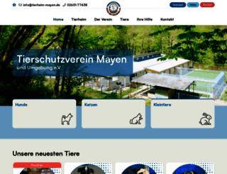 tierschutzverein-mayen.de screenshot