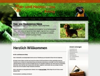 tierundheim-koenig.de screenshot