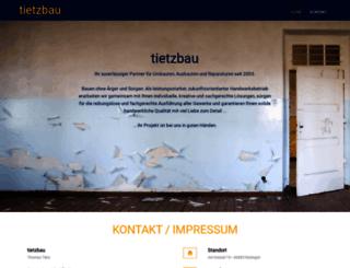 tietzbau.com screenshot
