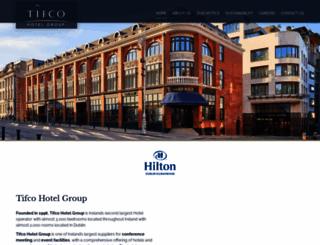 tifcohotels.ie screenshot