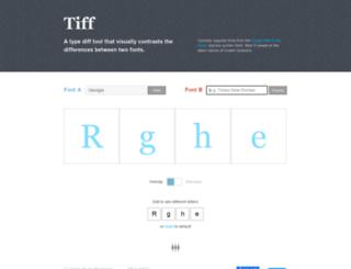 tiff.herokuapp.com screenshot
