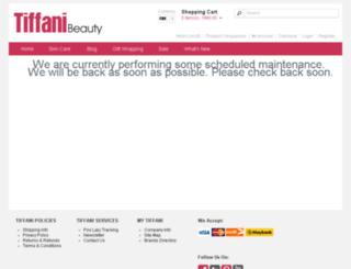 tiffanibeauty.com screenshot