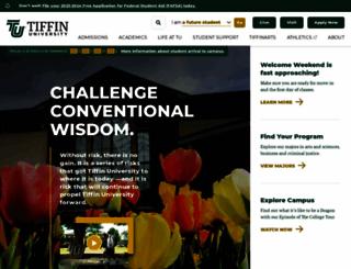tiffin.edu screenshot