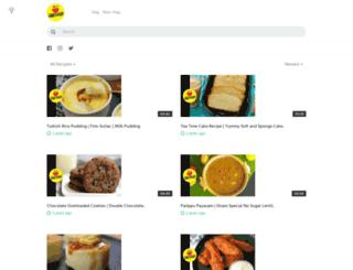 tiffinrecipes.com screenshot