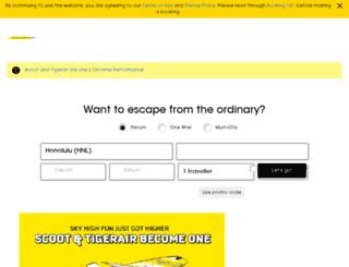 tigerair.com screenshot