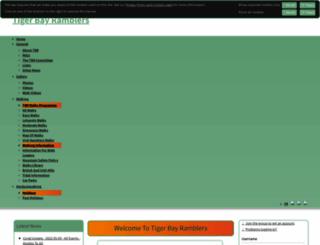 tigerbayramblers.org.uk screenshot