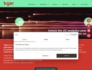 tigercomms.com screenshot