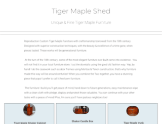 tigermapleshed.com screenshot