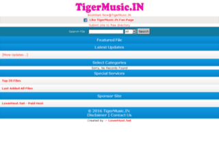 tigermusic.in screenshot
