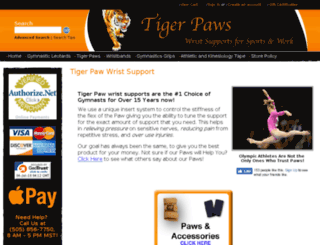 tigerpawwristsupports.com screenshot