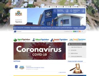 tigrinhos.sc.gov.br screenshot