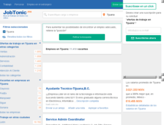 tijuana.jobtonic.mx screenshot